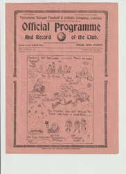 original Official League Division Two programme for the game, Tottenham Hotspur V Swansea Town played 27 February 1937