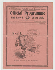 original Official FA Cup 6th round programme for the game, Tottenham Hotspur V Preston North End played on 6 March 1937