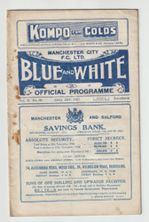original Official League Division Two programme for the game, Manchester City V Preston North End played on 23 April 1927
