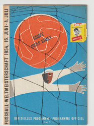 original Official World Cup Quarter Final programme for the game, England V Uruguay played on 26 June 1954 in Basel