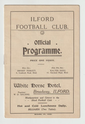 original Official FA Cup programme for the game, Ilford V 3rd Grenadier Guards played on 15 October 1910
