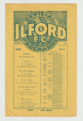 original Official Senior London Cup programme for the game, Ilford V Dulwich Hamlet played on 12 March 1932.