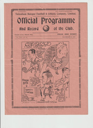 original Official League Division Two programme for the game, Tottenham Hotspur V Bury played 27 December 1937