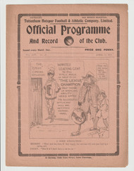 original Official League Division One programme for the game, Tottenham Hotspur V Oldham Athletic played on 14 April 1922