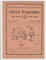 original official South Eastern League programme for the game, Tottenham Hotspur V Norwich City played on 12 September 1914.Rare double issue also covering the South Eastern League game Tottenham Hotspur V Southampton played on 14 September 1914