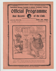 original official League Division One programme for the game, Tottenham Hotspur V Manchester City played on 10 November 1924