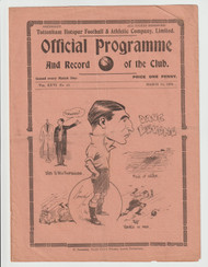 original Official London Combination programme for the game, Tottenham Hotspur Reserves V Brighton & Hove played 24 March 1934