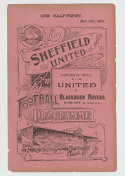 original Official reserves programme for the game, Sheffield United Reserves V Stockport County played on 18 March 1905