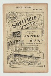 original programme for the game, Sheffield United Reserves V Sheffield Club played on 4 March 1905