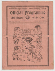 original official League Division Two programme for the game, Tottenham Hotspur V Swansea Town played 2 November 1935