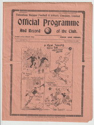 original official League Division Two programme for the game, Tottenham Hotspur V Bury United played 16 November 1935