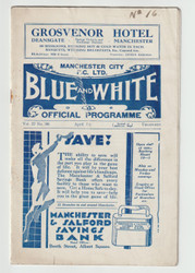 original official League Division One programme for the game, Manchester City V Newcastle United played on 1 April 1933