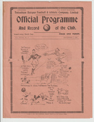 original official League Division Two programme for the game, Tottenham Hotspur V Newcastle United played 7 September 1935
