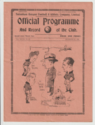 original official League Division Two programme for the game, Tottenham Hotspur V Plymouth Argyle played 25 December 1935