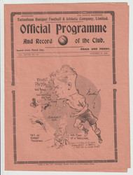 original official League Division Two programme for the game, Tottenham Hotspur V Bradford played 19 October 1935