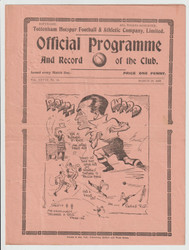 original official League Division Two programme for the game, Tottenham Hotspur V Southampton played 28 March 1936