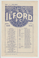 original official Sugden Charity Cup programme for the game, Ilford V Barking played on 1 September 1949