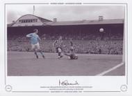Manchester City's Mike Summerbee flicks the ball over Newcastle United keeper Ian McFaul to give City the lead at St James Park in 1968, during a Division 1 clash.