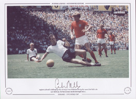 England's Colin Bell is challenged by Franz Beckenbauer during their quarter-final clash in the 1970 World Cup.