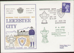 Original dawn first day cover to celebrate Leicester City Division 2 Champions, issued in January 1972. Complete with filler card.