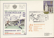 An original first day cover to celebrate Birmingham City's return to Division 1, issued in August 1972.
