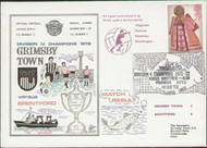 An original dawn first day cover to celebrate Grimsby's return to Division 3 as Champions, issued in December 1972. Complete with filler card.