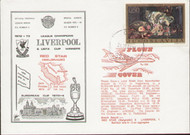 an original flown first day cover to celebrate Liverpools 10th successive season in Europe, issued in October 1973.