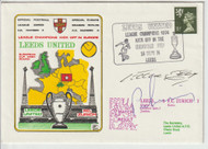 original first day cover to celebrate Leeds United kicking off in Europe as League Champions. Issued September 1974.