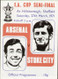 original Official 1971 FA Cup Semi Final programme. The game, Arsenal V Stoke City was played on 27 March 1971 at Hillsborough, Sheffield.