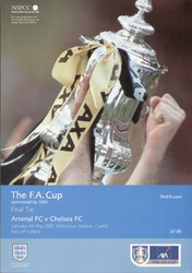 original Official 2002 FA Cup Final programme. The game, Arsenal V Chelsea was played on 4th May 2002 at the Millennium Stadium, Cardiff.