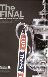 original Official 2005 FA Cup Final programme. The game, Arsenal V Manchester United was played on 21st May 2005 at the Millennium Stadium, Cardiff.