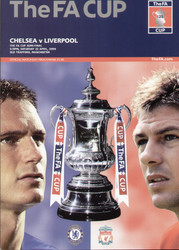 original Official 2006 FA Cup Semi Final programme. The game, Chelsea V Liverpool was played on 22nd April 2006 at Old Trafford.