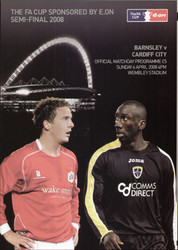 original Official 2008 FA Cup Semi Final programme. The game, Barnsley V Cardiff was played on 6th April 2008 at Wembley Stadium.