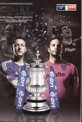 original Official 2010 FA Cup Final programme. The game, Chelsea V Portsmouth was played on 15th May 2010 at Wembley Stadium.
