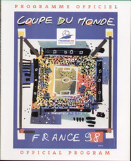 original Official France 98 World Cup tournament programme (exclusive to stadiums).