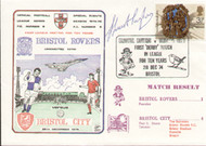 On offer is an original first day cover to celebrate the league meeting Bristol Rovers V Bristol City, issued in 1974. Complete with original filler card.  The cover has been signed by the former Bristol Rovers Captain Stuart Taylor and is part of a limited edition of just 250.