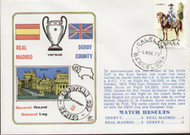 original flown first day cover to celebrate Derby County V Real Madrid in Europe 1975, issued in November 1975.