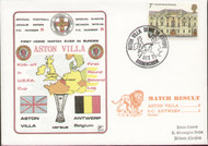 original flown first day cover to celebrate Aston Villa's First home match in Europe 1975, issued in October 1975.