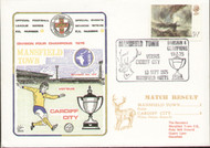 original first day cover to celebrate Mansfield Town as Division 4 Champions 1975, issued in September 1975. Complete with original filler card.