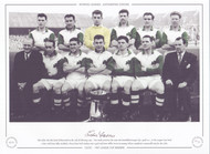 Pictured are the Celtic side that faced Kilmarnock on the 11th February 1957