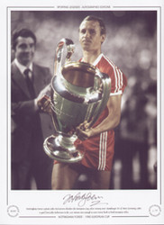 Nottingham Forest captain John McGovern clutches the European Cup, after their 1-0 victory over Hamburger SV of West Germany. A goal from John Robertson in the 21st minute was enough to earn Forest back to back European titles.