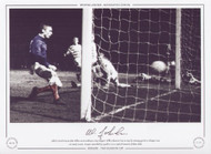 Celtic's David Hay & John Fallon can do nothing to stop Rangers' Willie Johnston from scoring the winning goal in a Glasgow Cup 1st round, in 1969. Rangers prevailed by 4 goals to 3 in a typical dramatic old firm clash.
