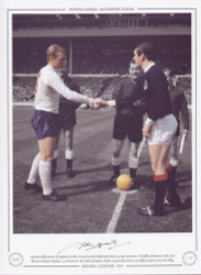 England V Scotland 1967 Captains Bobby Moore of England and John Greig of Scotland shake hands before an epic encounter at Wembley Stadium in April 1967. The Scots claimed a famous 3-2 victory over the World Champions, thanks to goals from Denis Law, Bobby Lennox & Jim McCalliog.
