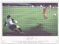 Phil Neal scores Liverpool's 1st penalty during the 1984 European Cup Final penalty shoot out V Roma.