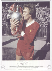 A jubilant Phil Neal kisses the League Championship trophy as Liverpool are crowned the 1979/80 Division 1 Champions. Liverpool claimed the title by 2 points from their nearest rivals Manchester United.