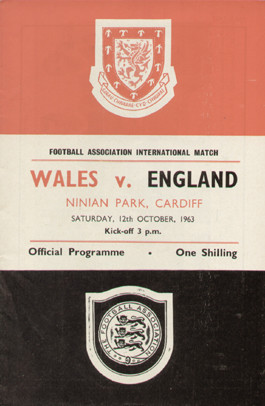 original Official programme for the international match Wales V England played on 12 October 1963 at Ninian Park, Cardiff.