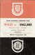 original Official programme for the international match Wales V England played on 11 May 1974 at Ninian Park, Cardiff.