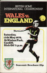 original Official programme for the international match Wales V England played on 13 May 1978 at Ninian Park, Cardiff.