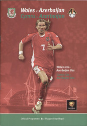 original Official programme for the Euro Qualifying match Wales V Azerbaijan played on 29 March 2003 in Cardiff.