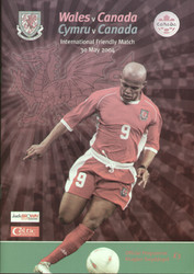 original Official programme for the international match Wales V Canada played on 30 May 2004 in Cardiff.